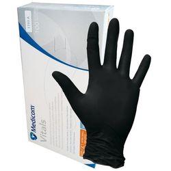 Rękawiczki Medicom nitrylowe XS czarne b/pdr standard 100szt/opak. SafeTouch Advanced Black