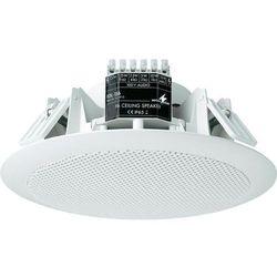Głośnik sufitowy PA do zabudowy Monacor EDL-156, 100 dB, 60 - 20 000 Hz, 100 V, Kolor: biały, 1 szt.