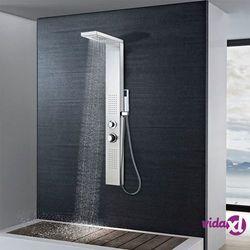vidaXL Panel prysznicowy ze stali nierdzewnej, kwadratowy Darmowa wysyłka i zwroty