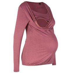 Shirt ciążowy i do karmienia, z koronkową wstawką, długi rękaw bonprix jasny jeżynowy