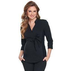 ubrania ciążowe Elegancka koszula ciążowa Orto Black Piękny Brzuszek