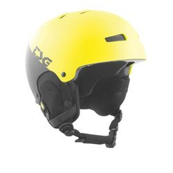 kask TSG - gravity youth graphic design divided acid yellow-black (285) rozmiar: S/M