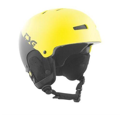 Kaski i gogle, kask TSG - gravity youth graphic design divided acid yellow-black (285)