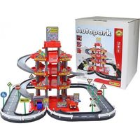 Pozostałe zabawki, Parking 4-poziomowy z drogą i samochodami czerwony