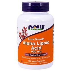 ALA (Kwas Alfa Liponowy) Plus Grape Seed Ext & Bioperine 120 kaps.