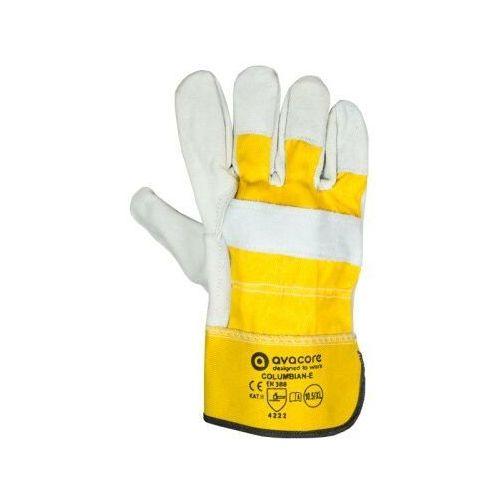 Rękawice ochronne, Rekawice robocze skóra dwoinowa COLUMBIAN-E kategoria II