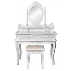 Romantyczna toaletka z lustrem i taboretem - Melinda 2X