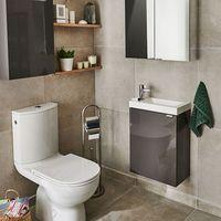 Szafki łazienkowe, Szafka pod umywalkę GoodHome Imandra wisząca 44 cm antracyt