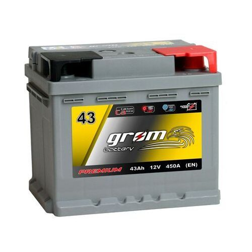 Akumulatory samochodowe, Akumulator GROM Premium 43Ah 450A EN DTR