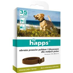 Happs obroża przeciw pchłom i kleszczom dla małych psów 35cm