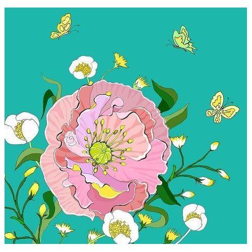 Pozostałe artykuły szkolne, Karnet Swarovski kwadrat CL0606 Kwiaty morski