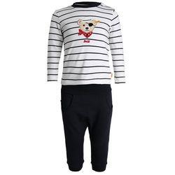Steiff Collection NEWBORN BOY LITTLE PIRAT SET Spodnie materiałowe marine
