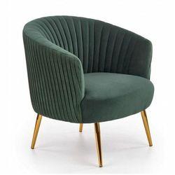 Klubowy fotel muszelka Royal - zielony