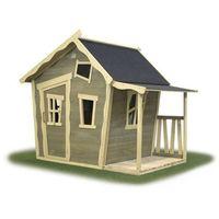 Domki i namioty dla dzieci, Domek cedrowy dla dzieci EXIT CROOKY 150 /szary/