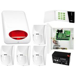 System alarmowy: Płyta główna CA-4 VP + Manipulator CA-4 VKLED + 4x Czujnik ruchu + Akcesoria