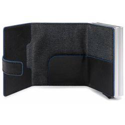 Piquadro B2S Etui na karty bankowe RFID skórzana 6,5 cm black ZAPISZ SIĘ DO NASZEGO NEWSLETTERA, A OTRZYMASZ VOUCHER Z 15% ZNIŻKĄ