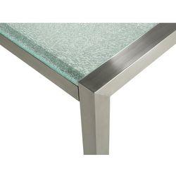 Stół ogrodowy szkło hartowane 180 x 90 cm dzielona płyta GROSSETO