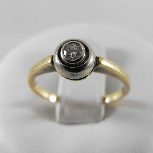 Pierścionki i obrączki, Złoty pierścionek z brylantem P1363