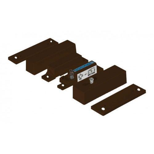 Czujki alarmowe, MC446-B Kontaktron magnetyczny plastikowy, brązowy Alarmtech