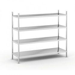 Półki ze stali nierdzewnej, 1550x1800x600 mm, 4 półki