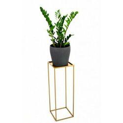 Stojak metalowy, złoty kwietnik loft 100 cm