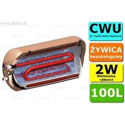 ERMET 100l dwupłaszczowy z wężownicą poziomy bojler do CWU - podgrzewacz wymiennik bezobsługowy - WYSYŁKA GRATIS