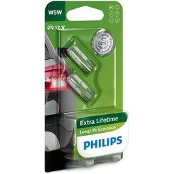 Żarówki Philips® W5W LongLife EcoVision   12V 5W W2,1x9,5d   Blister 2 szt.