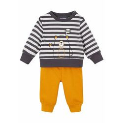 Shirt niemowlęcy + spodnie dresowe (2 części), bawełna organiczna bonprix biel wełny - miodowy