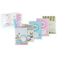 Pozostałe artykuły papiernicze, Okładka etui na książeczkę zdrowia dziecka, PVC - 1-słonik i zielone prążki