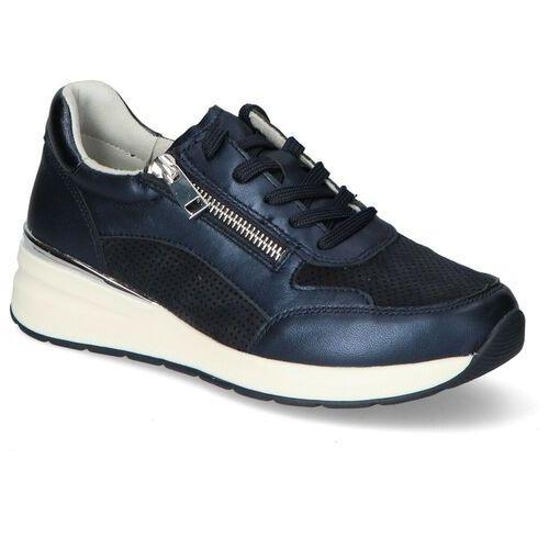 Damskie obuwie sportowe, Sneakersy Caprice 9-23723-26 Granatowe lico
