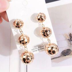 Kolczyki wiszące kule złote - ZŁOTE