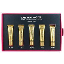 Dermacol Make-Up Cover   Zestaw 5 miniaturowych podkładów: nr 208, nr 212, nr 213, nr 215, nr 221