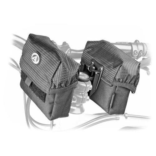 Sakwy, torby i plecaki rowerowe, 15-002605 Torba na wspornik kierownicy AUTHOR A-H805, czarna