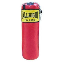 Worek bokserski Allright 90 x 30cm 14kg czerwony, łańcuch