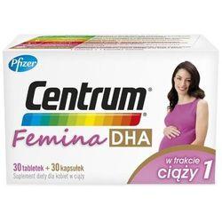 Centrum Femina 1 DHA w trakcie ciąży x 30 tabletek + 30 kapsułek