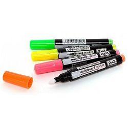 Markery suchościeralne fluorescencyjne okrągłe Multiboard 2x3 AS143 - 4 kolory