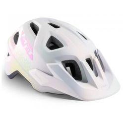 MET Eldar Kask rowerowy Dzieci, iridescent white texture 52-57cm 2020 Kaski dla dzieci