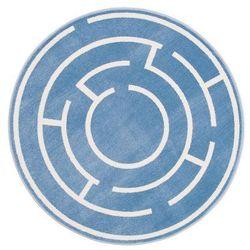 Dywan okrągły LABI lazurowy śr. 133 cm INSPIRE