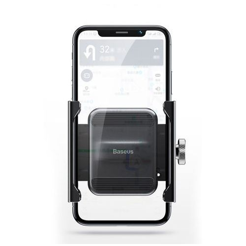 Uchwyty do telefonów, Baseus Knight metalowy uchwyt do telefonu na rower motor motocykl na kierownicę czarny (CRJBZ-01) - Czarny