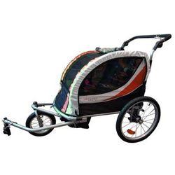 Przyczepka rowerowa GUTO 2w1 Czarno-czerwono-biały DARMOWY TRANSPORT