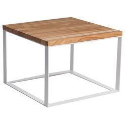 Stolik Square 100x100 cm płaskie białe nogi 4 cm (naturalna czereśnia) D2