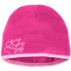 Czapka zimowa dla dzieci BAKSMALLA FLEECE HAT KIDS pink fuchsia - S