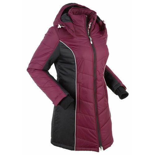 Pozostała odzież sportowa, Płaszcz funkcyjny pikowany bonprix jeżynowo-czarny