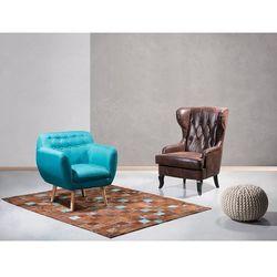 Fotel brązowy - fotel wypoczynkowy - do salonu - tapicerowany - MOLDE