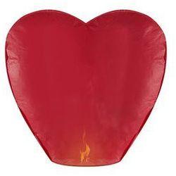 Lampion szczęścia - czerwone serce - 10 szt.