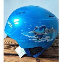UVEX kask narciarski dziecięcy Manic - blue snow dog (51-55 cm)