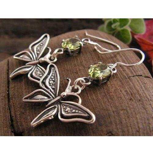 Pozostała biżuteria, Ale motylek - z oliwinem