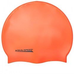 Czepek pływacki silikonowy Aqua Speed Mega pomarańczowy