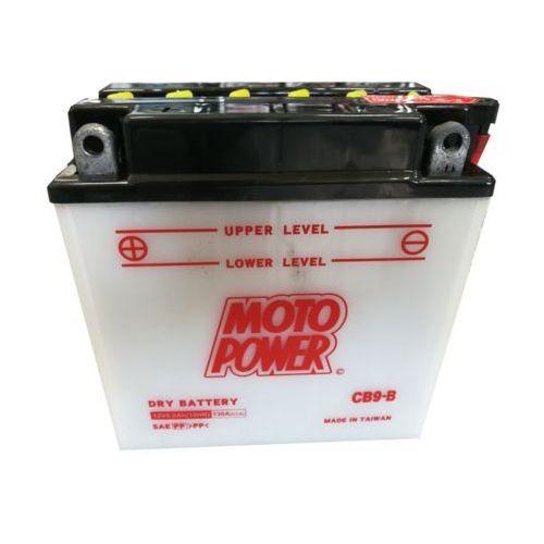 Akumulatory do motocykli, Akumulator motocyklowy MOTOPOWER CB9-B / YB9-B 12V 8Ah 130A L+