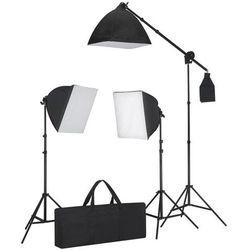 vidaXL Zestaw oświetleniowy: 3 lampy fotograficzne ze statywem i softboxem. Darmowa wysyłka i zwroty